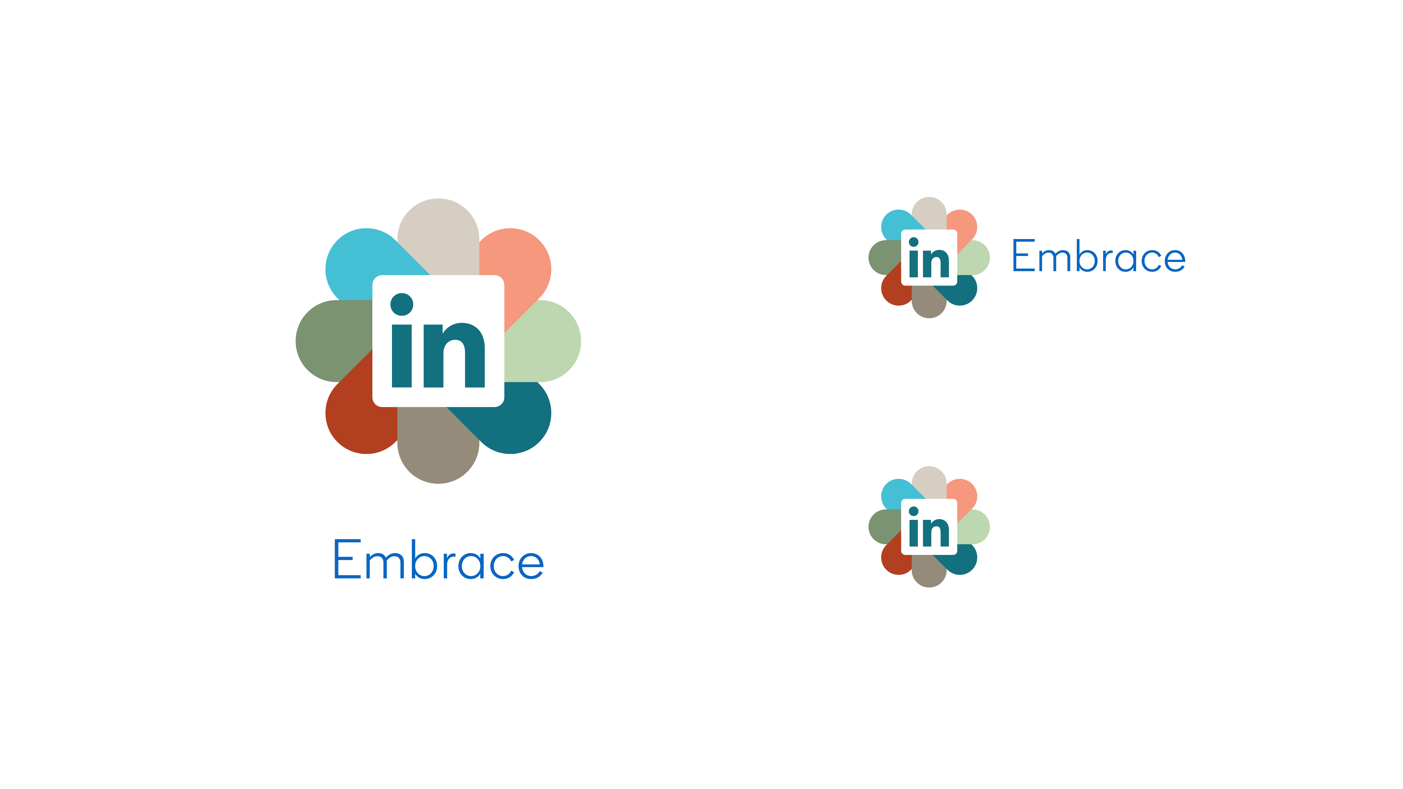 LinkedIn Employee Resource Group Embrace logo variations
