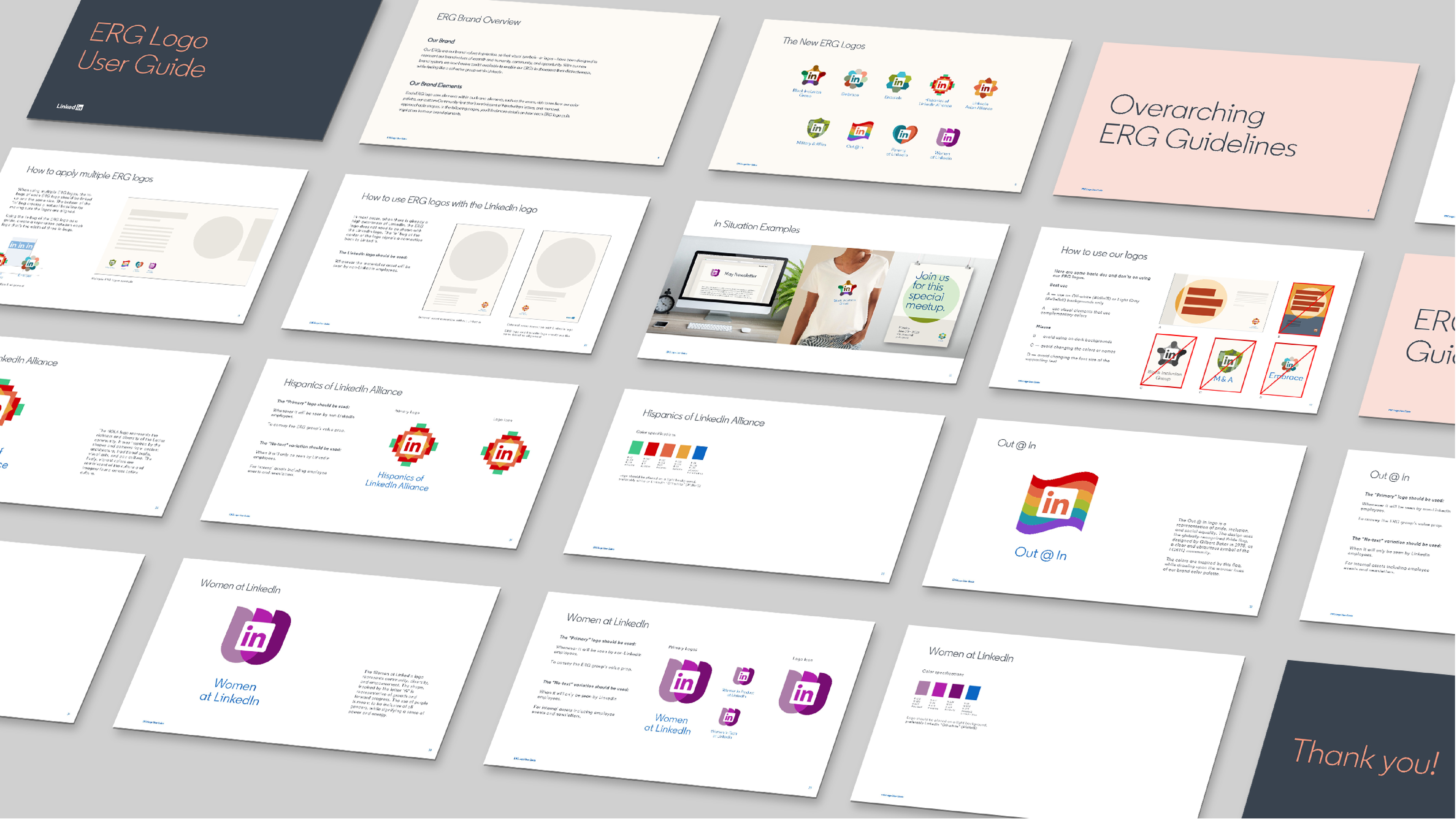 LinkedIn Employee Resource Group brand guidelines