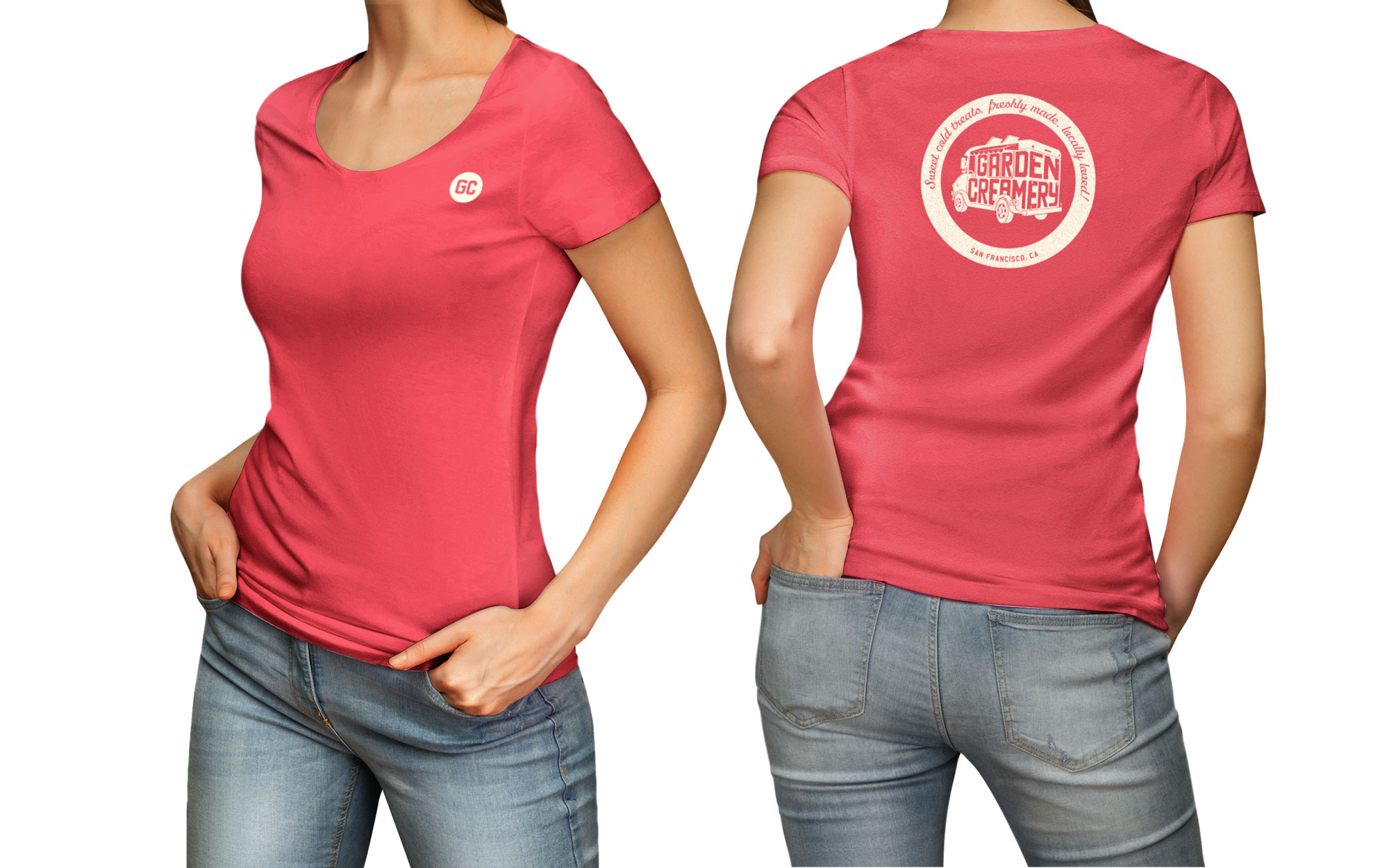 Garden Creamery women's t-shirt on model