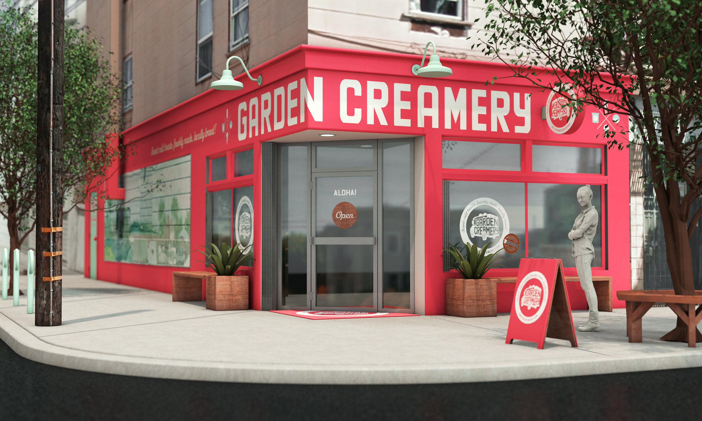 Garden Creamery shop render