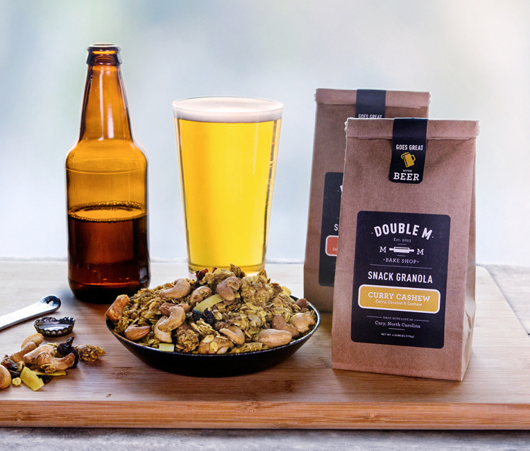 Double M Bake Shop granola snacks with beer