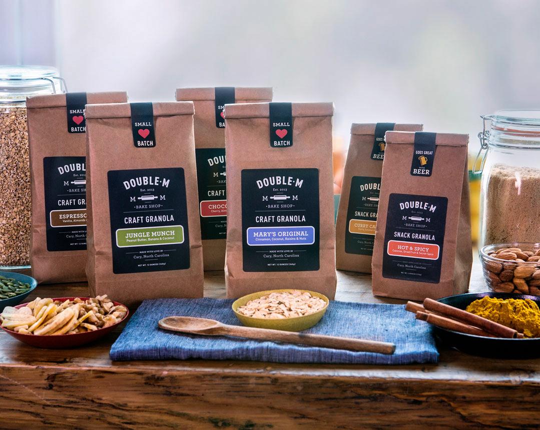 Double M Bake Shop granola packages