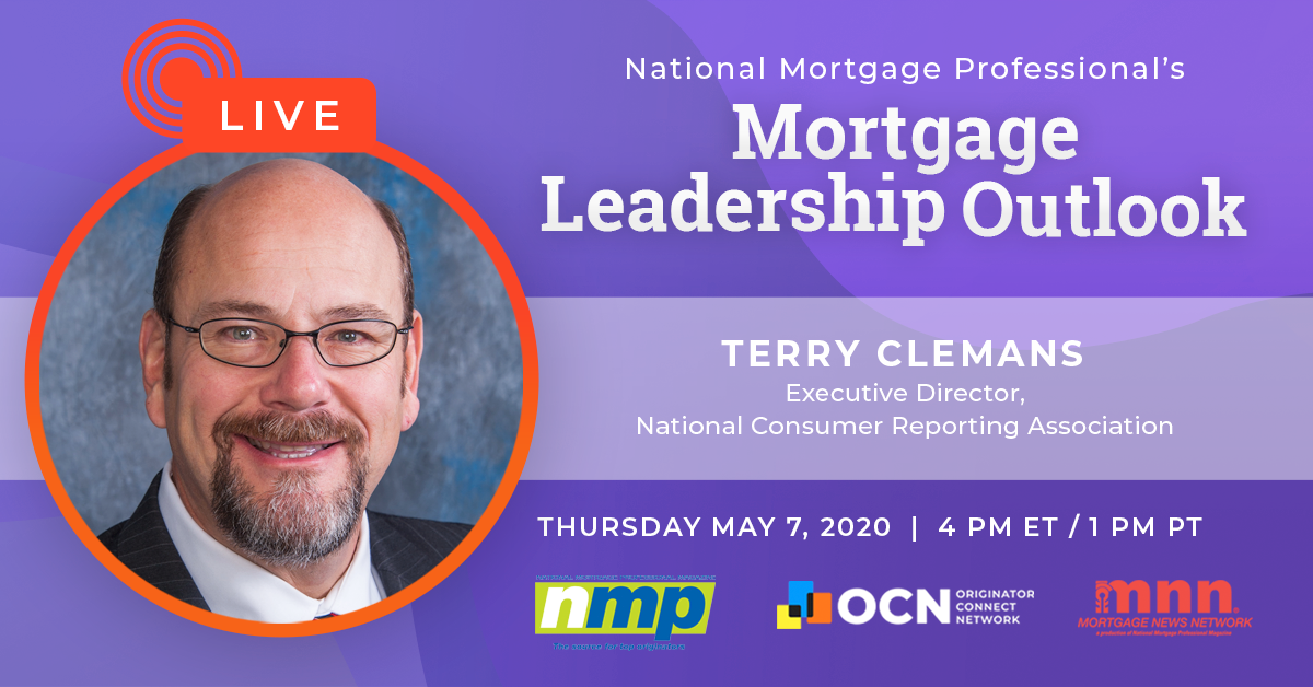 Terry Clemans To Appear On Today's Mortgage Leadership Outlook!