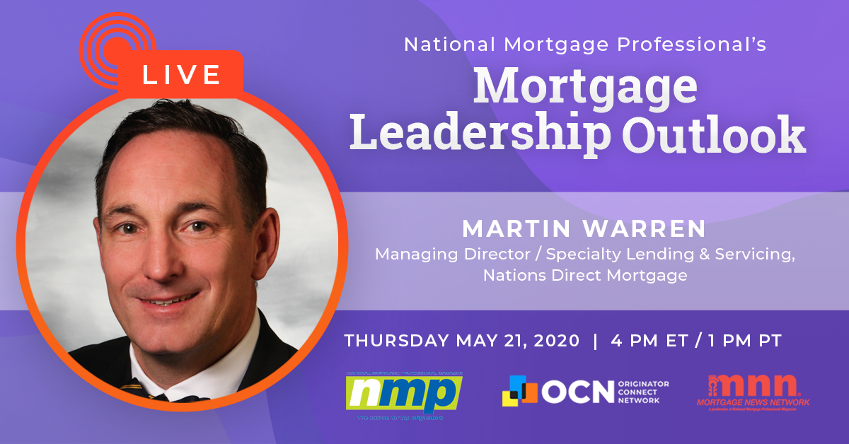 Martin Warren To Appear On Mortgage Leadership Outlook
