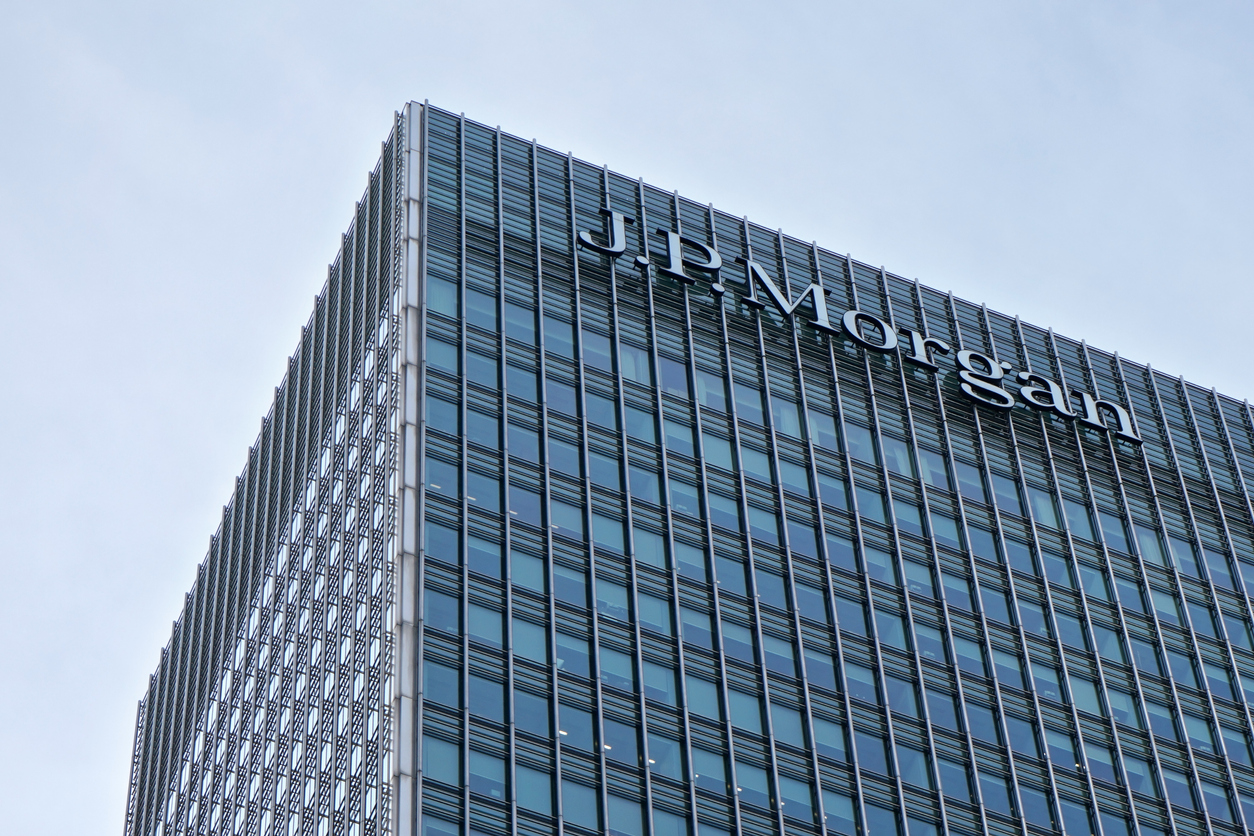 J.P. Morgan building. Credit: iStock.com/Lubo Ivanko