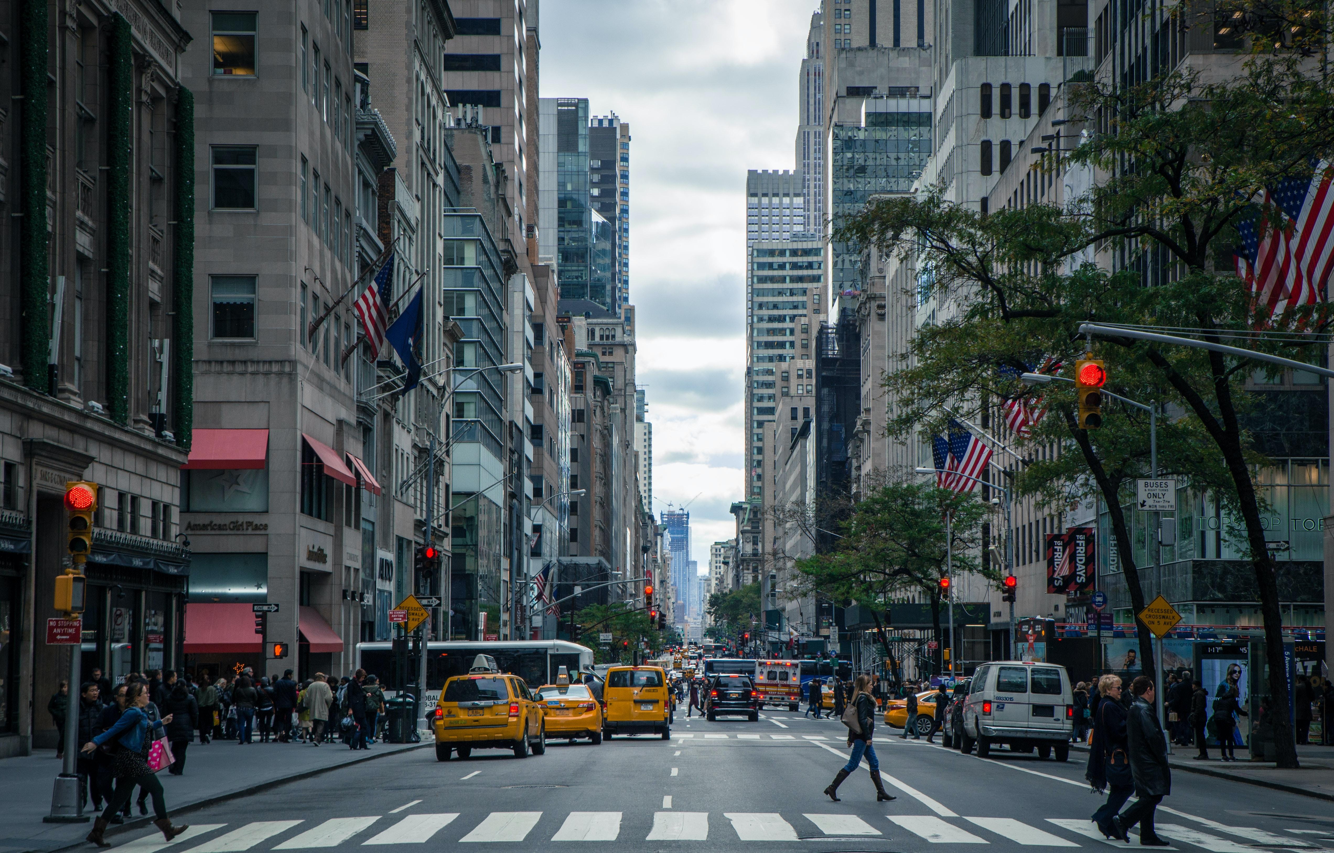 Busy NY street.