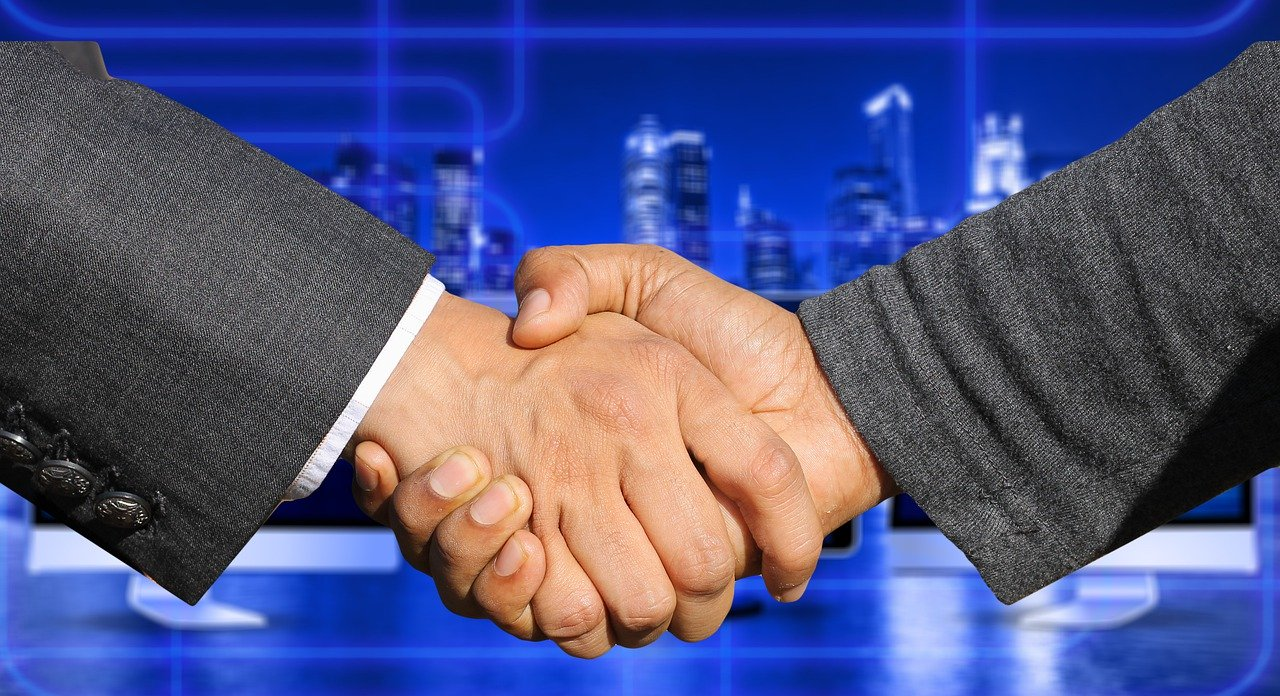 Men shaking hands. Image by Gerd Altmann from Pixabay
