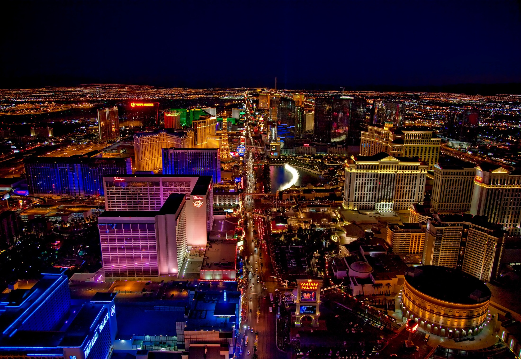 Aerial view of Las Vegas.