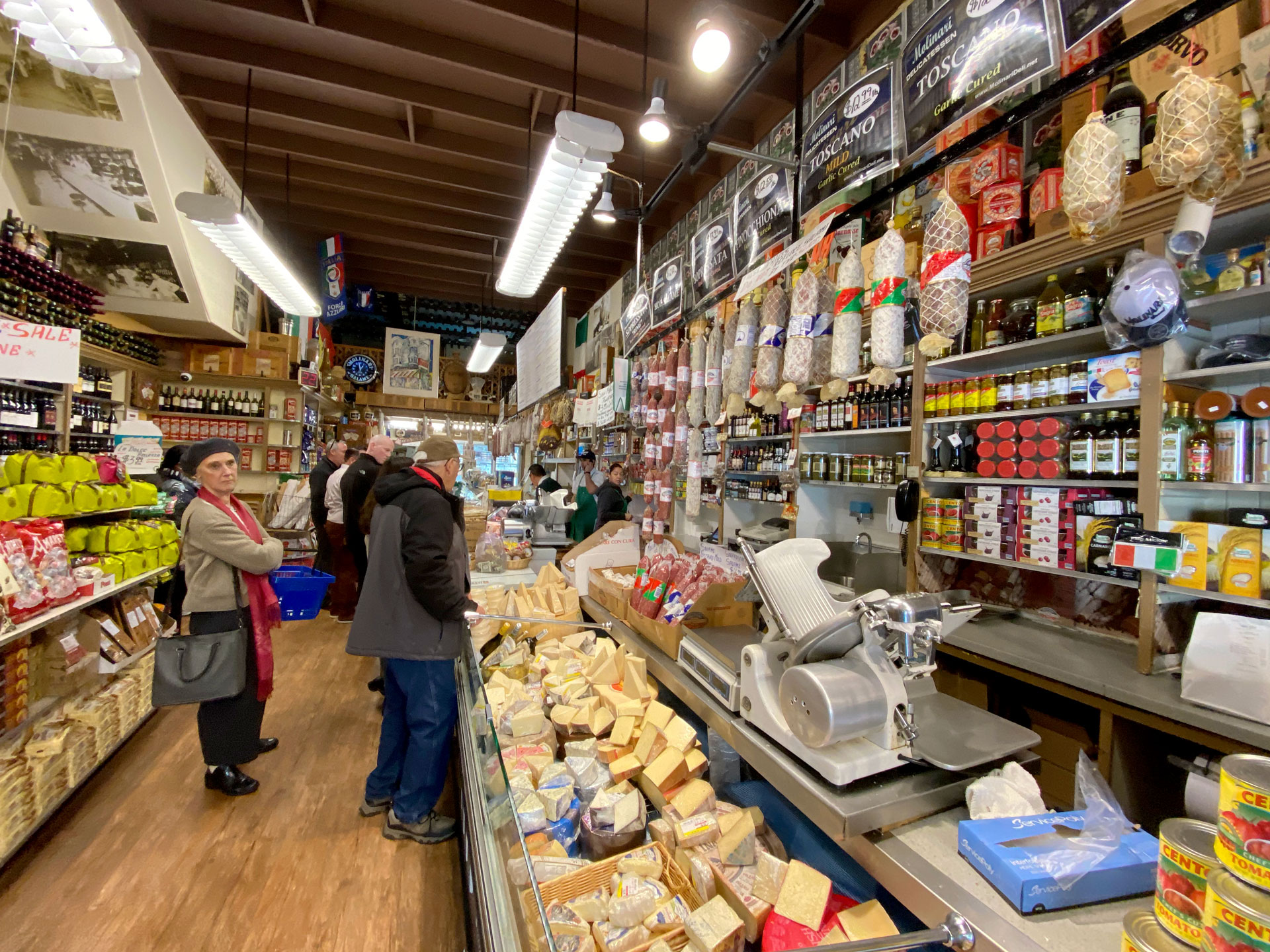 Inside Molinari's Delicatessen