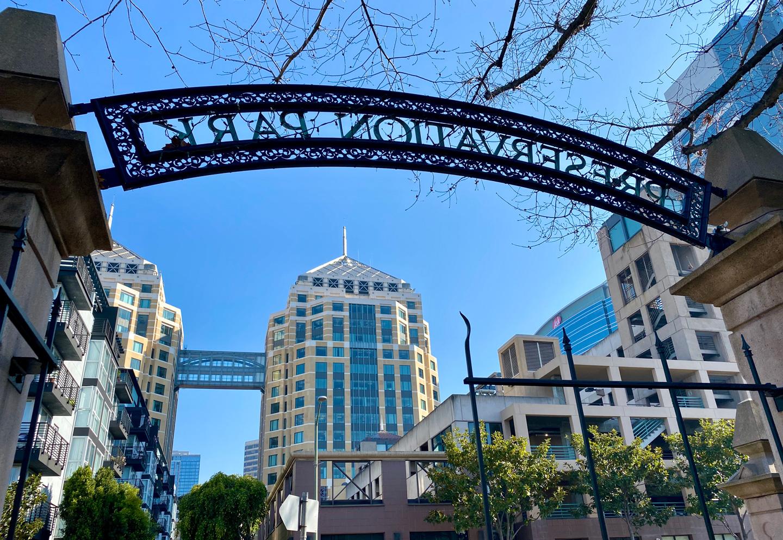 Gate at Preservation Park