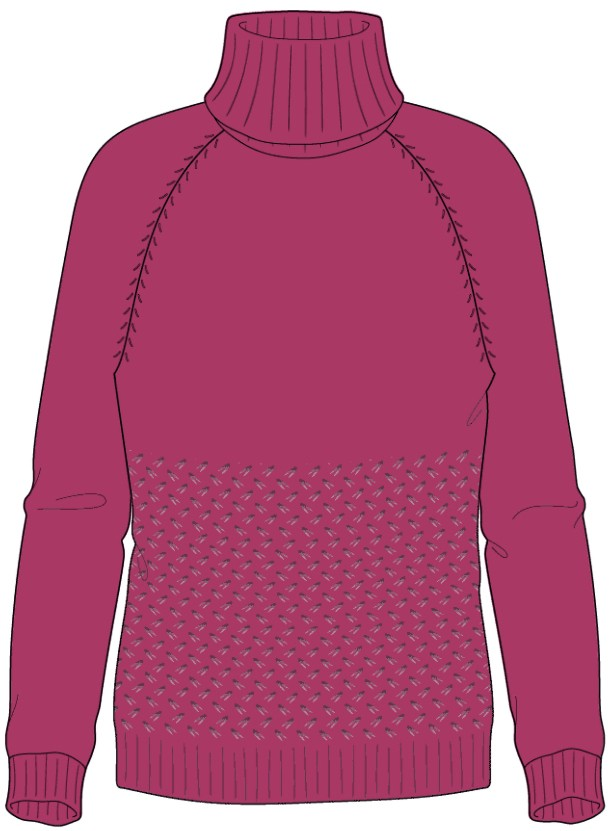 Bellish wild oats raglan sweater illustration