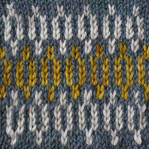 Bellish stacked links stitch pattern swatch