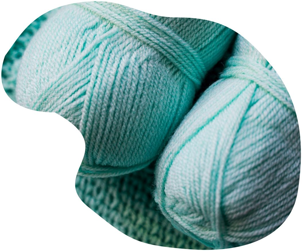 Aqua yarn skeins