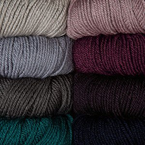Soft and affordable DK weight 70% Merino wool, 30% Silk.