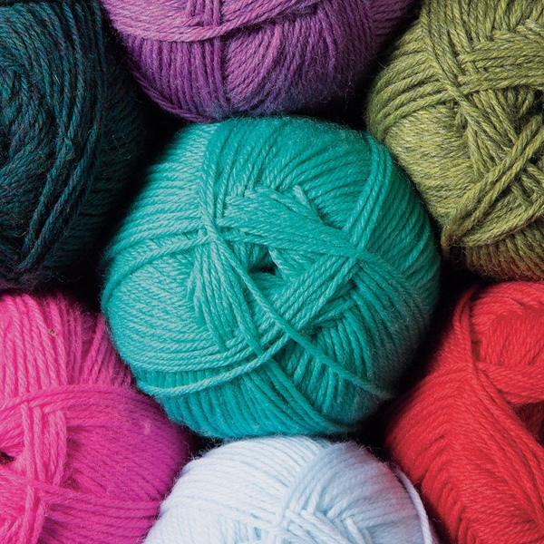 Super soft (and affordable) fingering weight 75% Fine Superwash Merino Wool, 25% Nylon.