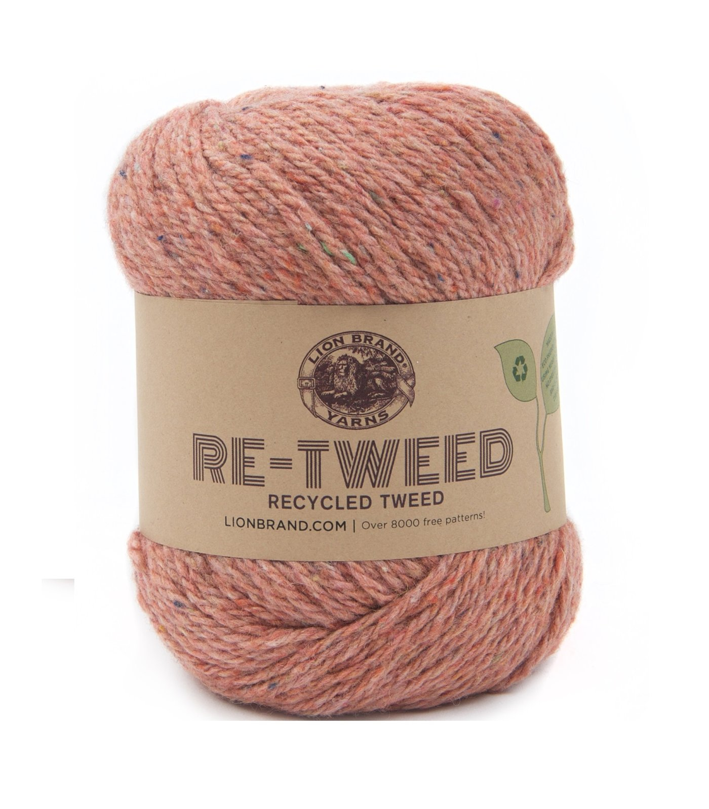 A rustic-look tweed yarn that comes in an array of muted natural colors