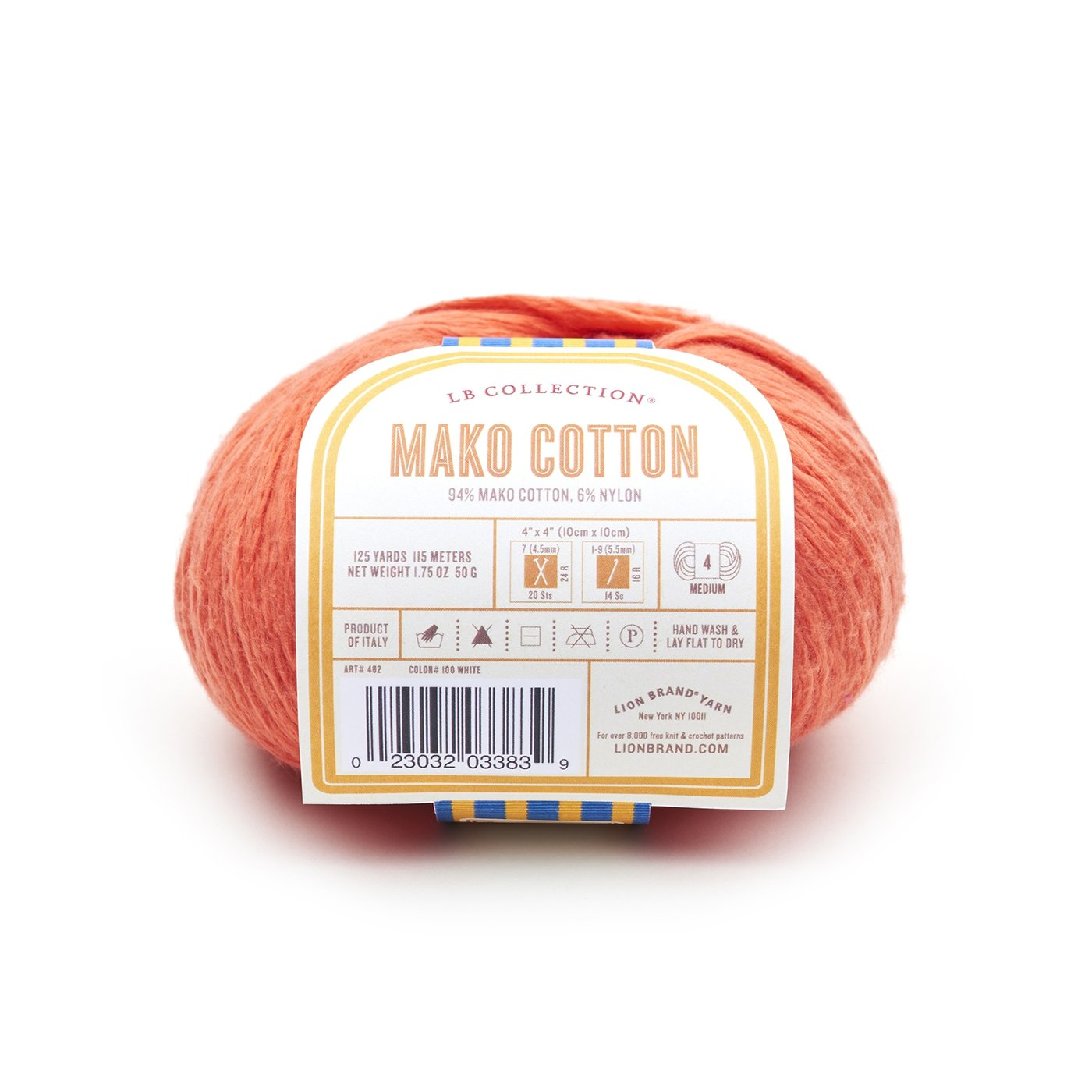 94% Mako Cotton, 6% Nylon lends a smoothness & strength