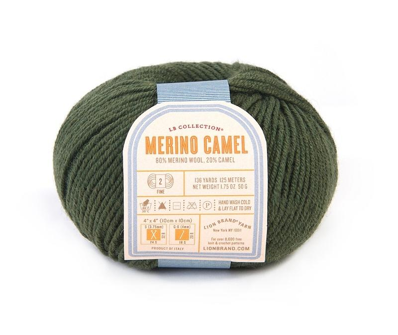 Merino provides buoyancy & stitch definition, & the camel gives  silkiness and drape