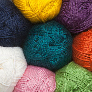 Easy-care 80% Acrylic 20% Superwash Wool with a wide range of colors