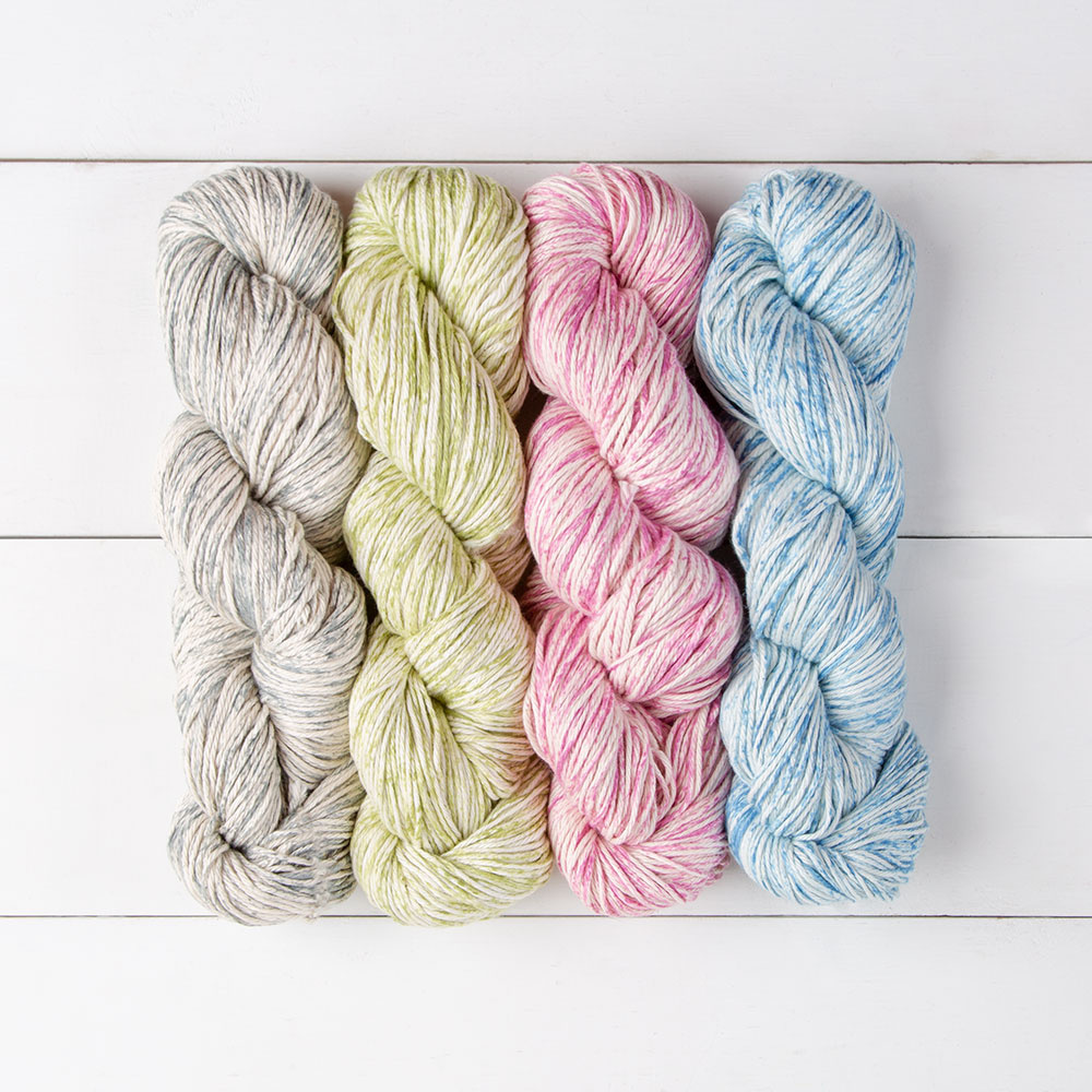 Lightweight, long wearing, machine washable yarn with 75% Pima Cotton , 25% Acrylic