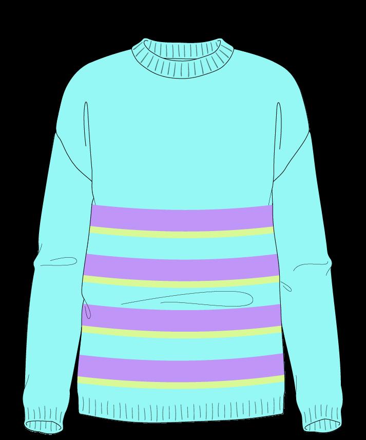 Regular fit Full length body Crew neck Long sleeve Uneven stripes Plain Plain dropshoulder dk 38
