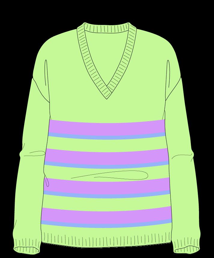 Relaxed fit Full length body V-neck Long sleeve Uneven stripes Plain Plain dropshoulder dk 34