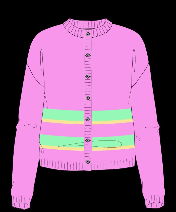 Regular fit Cropped body Crew neck Long sleeve Uneven stripes Plain Plain dropshoulder-cardigan dk 50