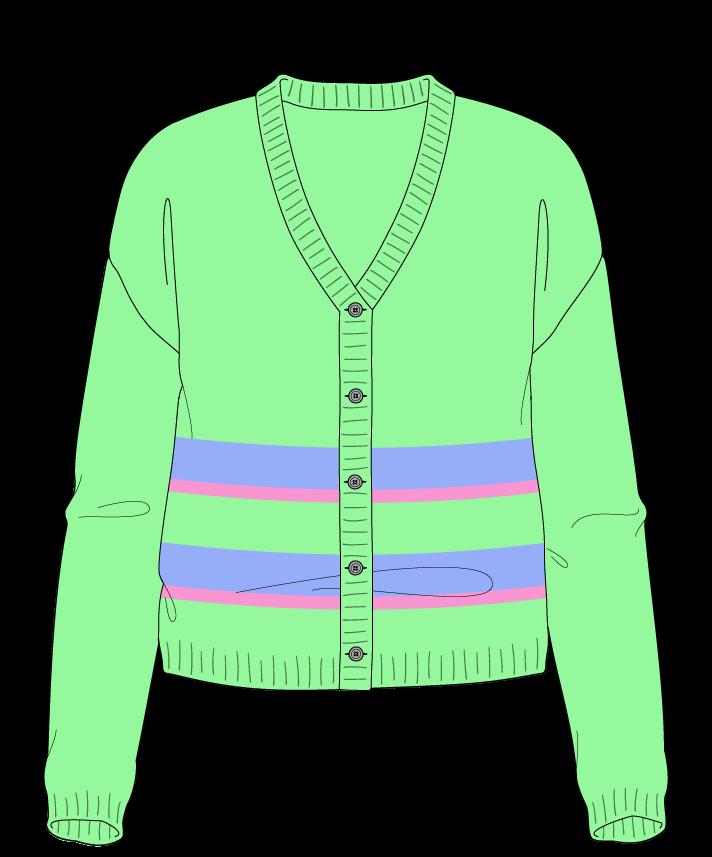 Regular fit Cropped body V-neck Long sleeve Uneven stripes Plain Plain dropshoulder-cardigan worsted 46