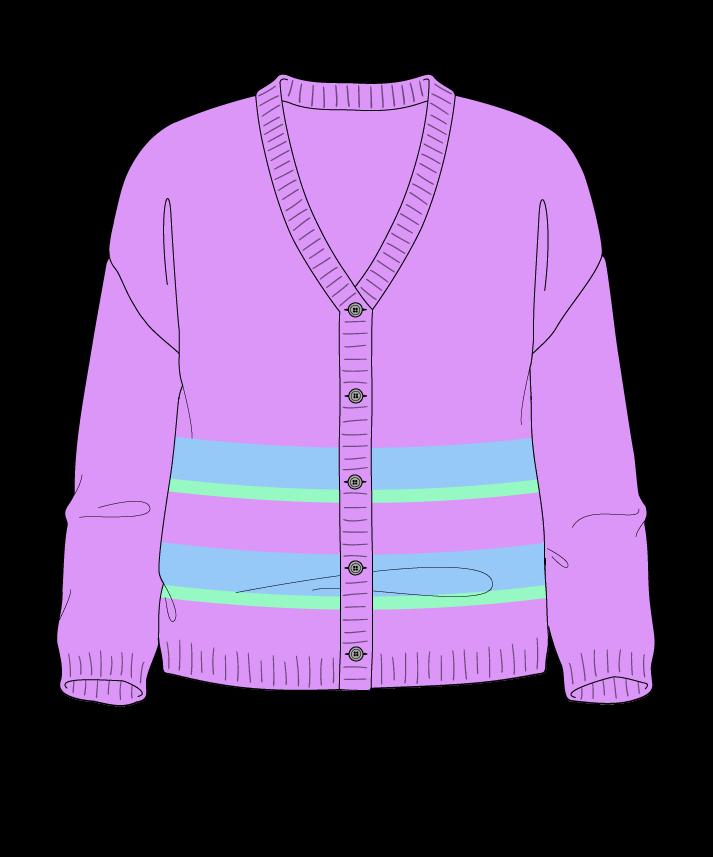 Regular fit Cropped body V-neck Three quarter sleeve Uneven stripes Plain Plain dropshoulder-cardigan worsted 54