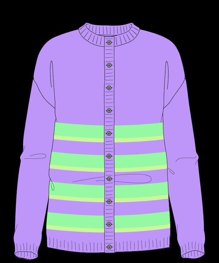 Regular fit Full length body Crew neck Long sleeve Uneven stripes Plain Plain dropshoulder-cardigan worsted 42