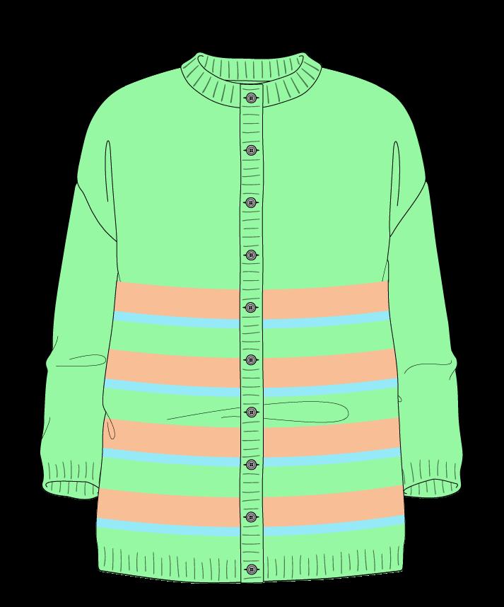 Relaxed fit Full length body Crew neck Three quarter sleeve Uneven stripes Plain Plain dropshoulder-cardigan dk 30