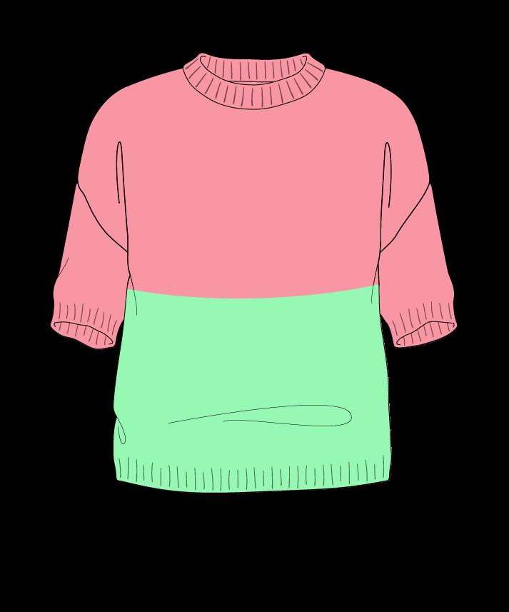 Regular fit Cropped body Crew neck Short sleeve Colorblock 1 Plain Plain dropshoulder worsted 30