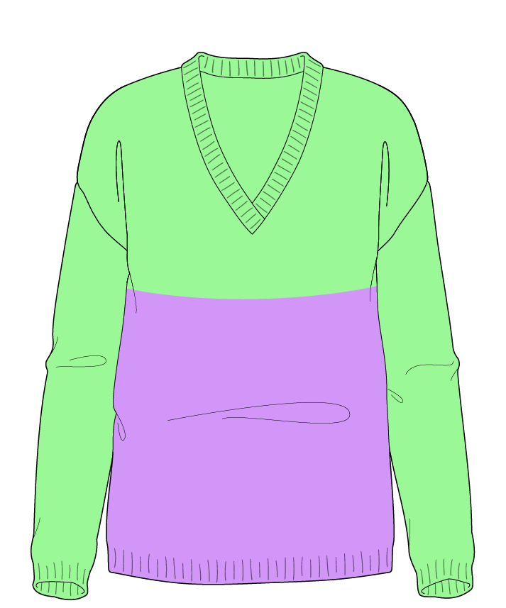 Regular fit Full length body V-neck Long sleeve Colorblock 1 Plain Plain dropshoulder sport 38