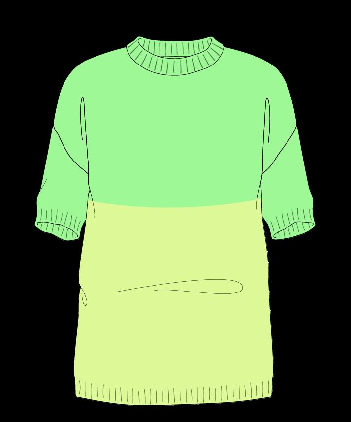 Regular fit Full length body Crew neck Short sleeve Colorblock 1 Plain Plain dropshoulder worsted 54