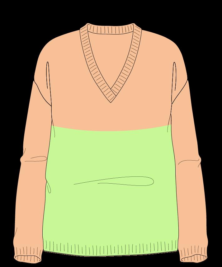 Relaxed fit Full length body V-neck Long sleeve Colorblock 1 Plain Plain dropshoulder sport 30