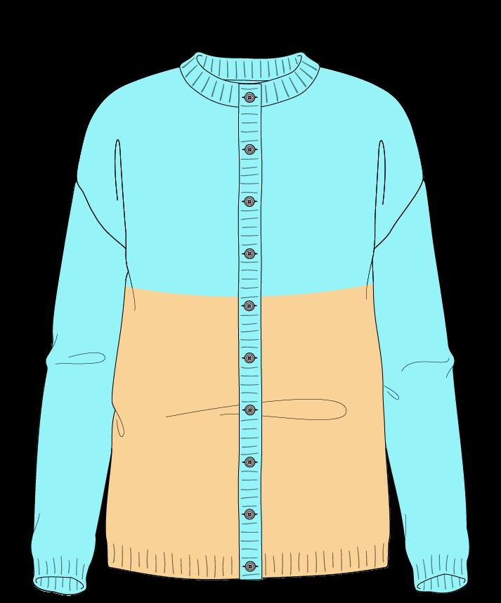 Regular fit Full length body Crew neck Long sleeve Colorblock 1 Plain Plain dropshoulder-cardigan sport 42