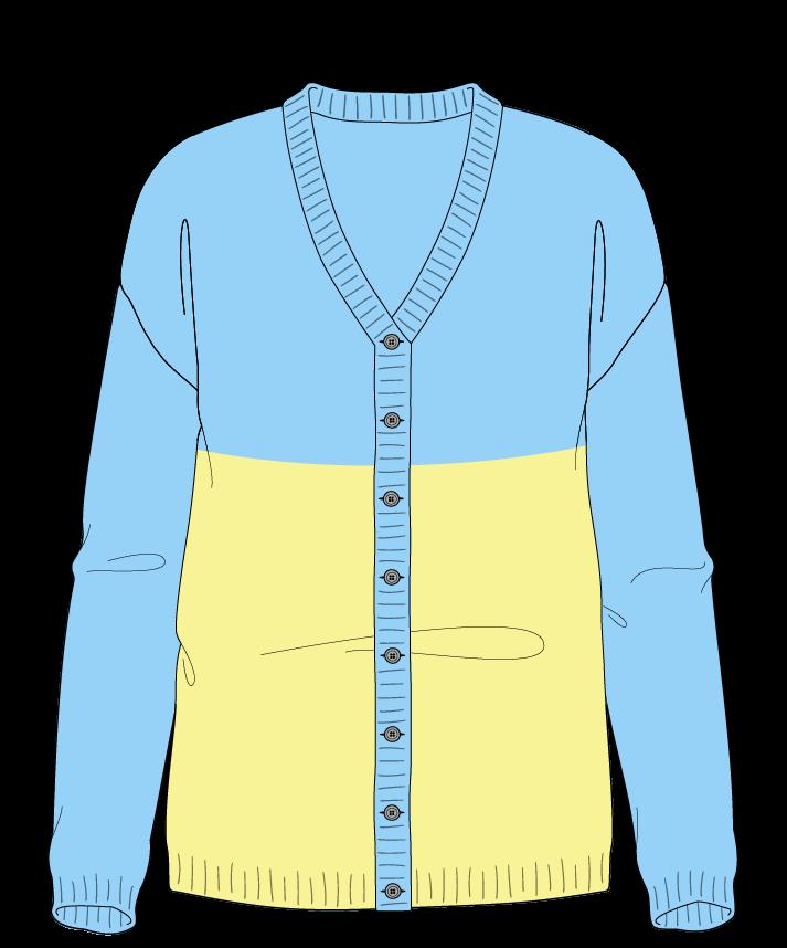 Regular fit Full length body V-neck Long sleeve Colorblock 1 Plain Plain dropshoulder-cardigan sport 38