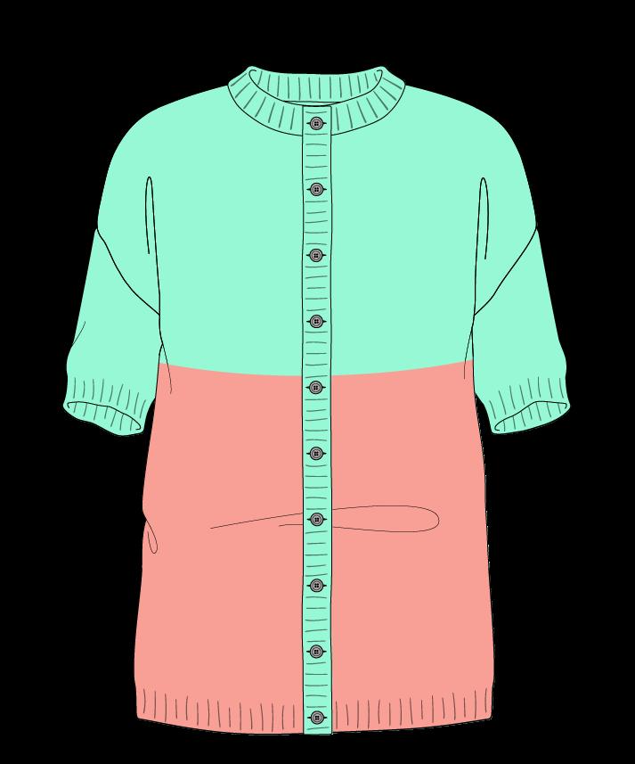 Regular fit Full length body Crew neck Short sleeve Colorblock 1 Plain Plain dropshoulder-cardigan sport 50