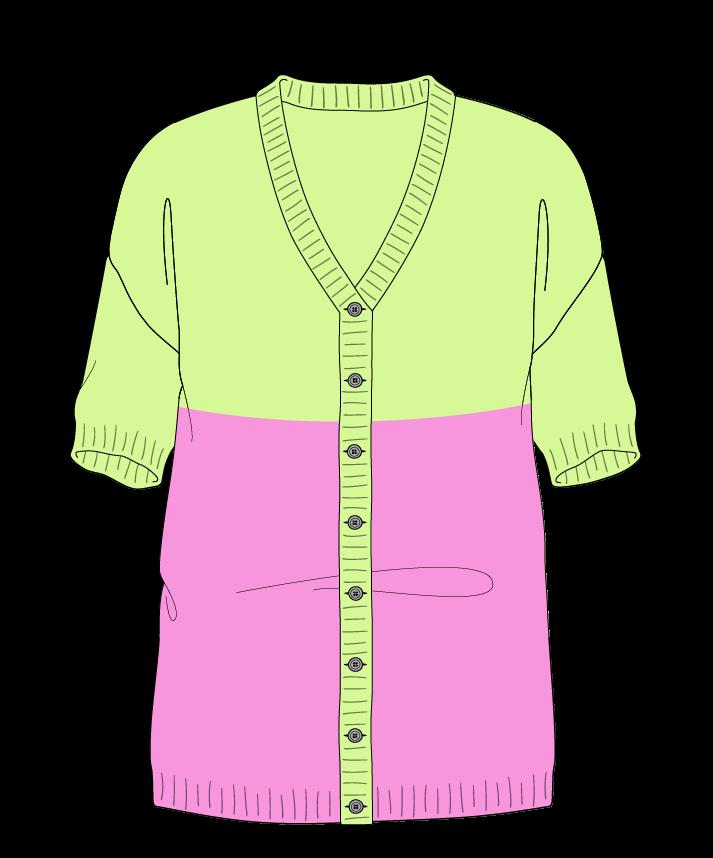 Regular fit Full length body V-neck Short sleeve Colorblock 1 Plain Plain dropshoulder-cardigan sport 50