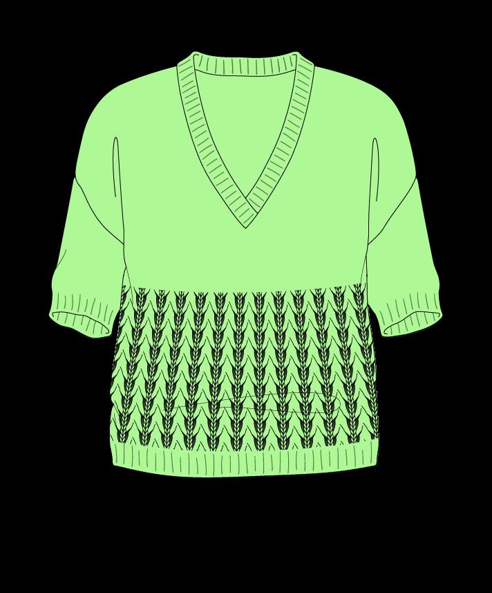 Regular fit Cropped body V-neck Short sleeve Little fountain lace Plain Plain dropshoulder worsted 50
