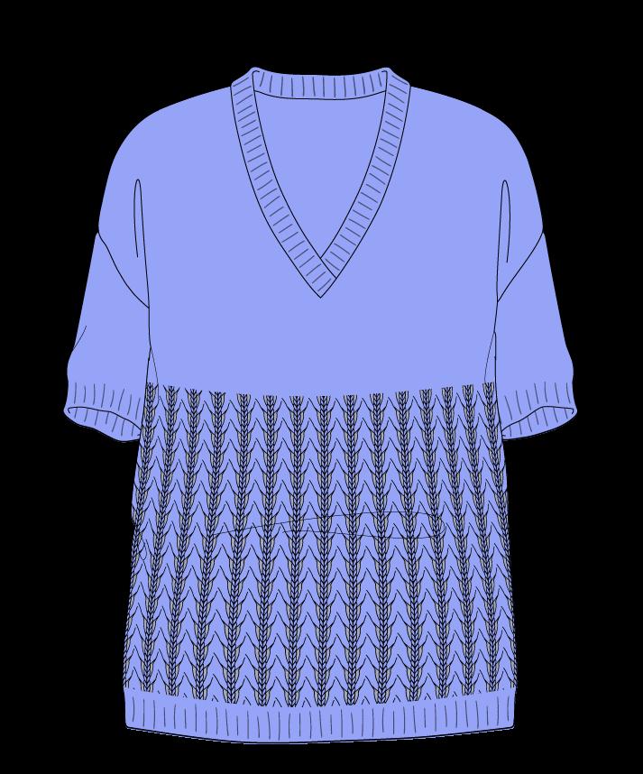 Relaxed fit Full length body V-neck Short sleeve Little fountain lace Plain Plain dropshoulder sport 50