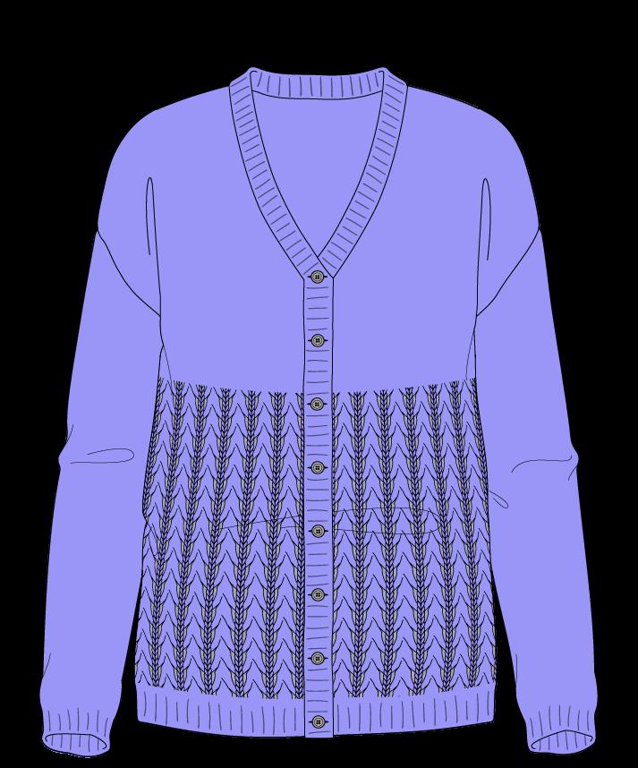 Regular fit Full length body V-neck Long sleeve Little fountain lace Plain Plain dropshoulder-cardigan sport 38