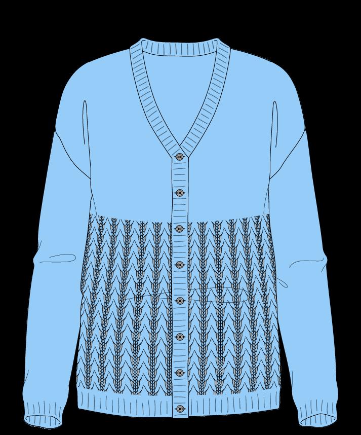 Regular fit Full length body V-neck Long sleeve Little fountain lace Plain Plain dropshoulder-cardigan worsted 42