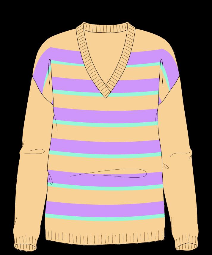 Regular fit Full length body V-neck Long sleeve Uneven stripes Uneven stripes Plain dropshoulder sport 34