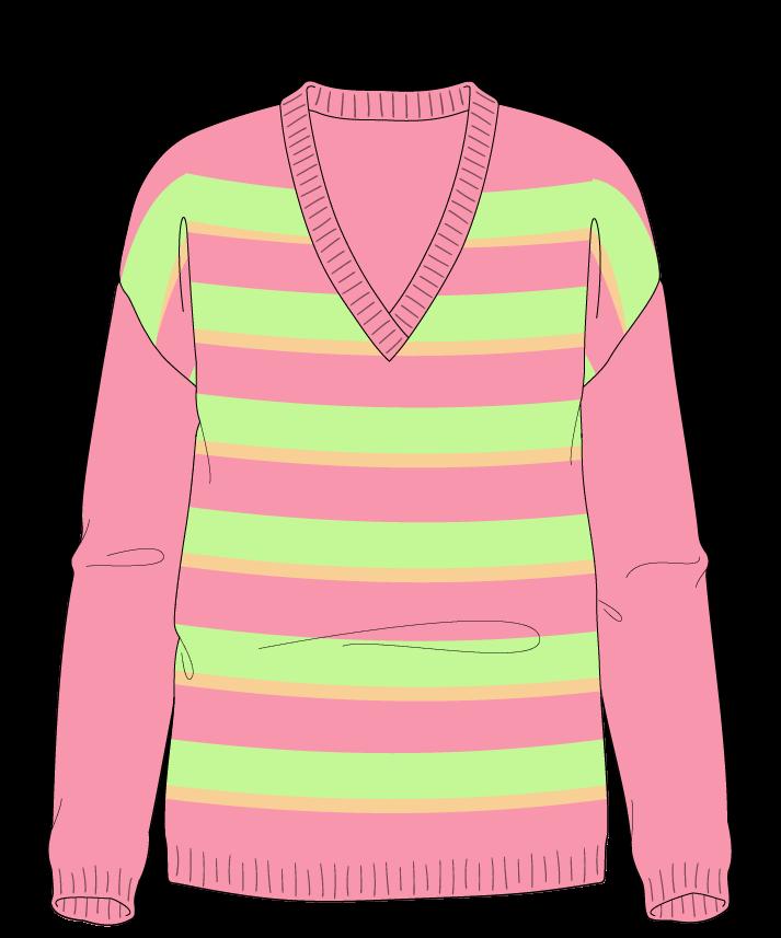 Regular fit Full length body V-neck Long sleeve Uneven stripes Uneven stripes Plain dropshoulder worsted 34