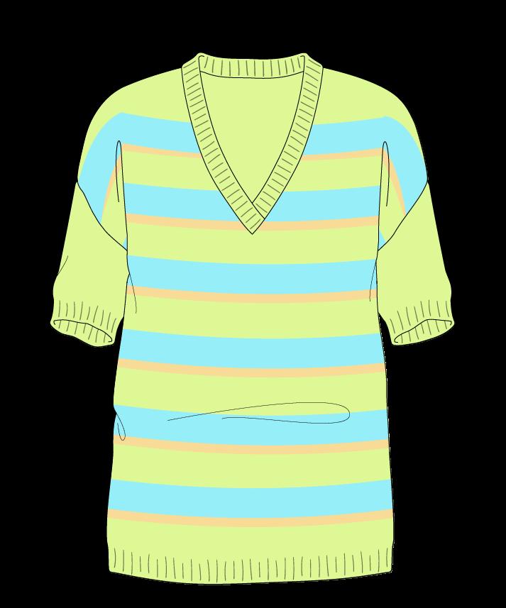 Regular fit Full length body V-neck Short sleeve Uneven stripes Uneven stripes Plain dropshoulder sport 30