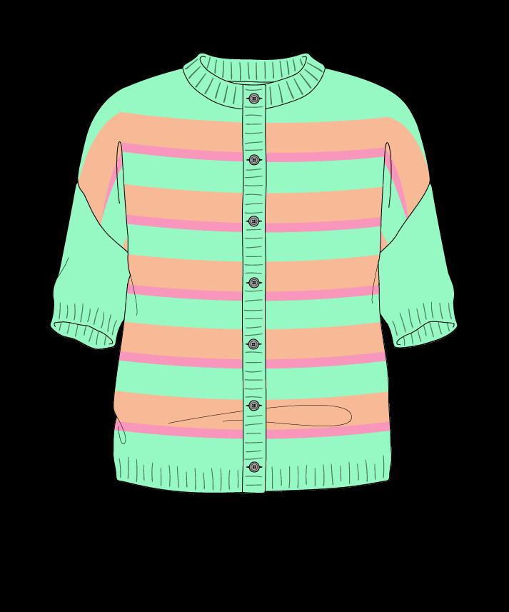 Regular fit Cropped body Crew neck Short sleeve Uneven stripes Uneven stripes Plain dropshoulder-cardigan sport 50