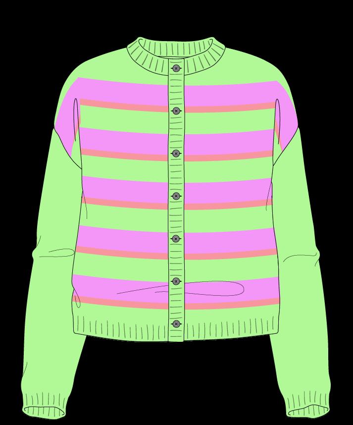 Illustration of knit pattern garment