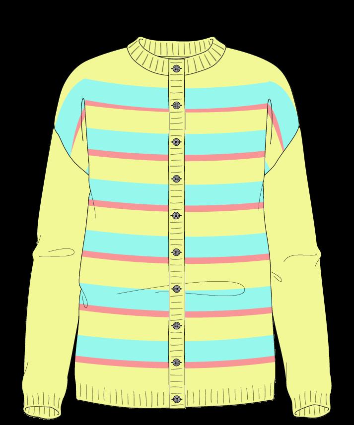 Regular fit Full length body Crew neck Long sleeve Uneven stripes Uneven stripes Plain dropshoulder-cardigan sport 34