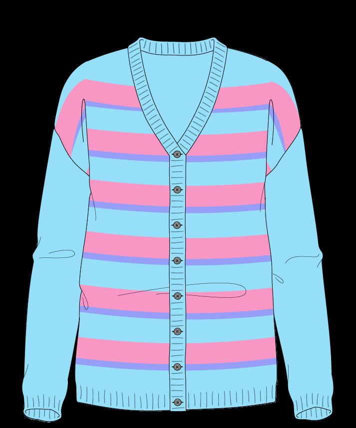 Regular fit Full length body V-neck Long sleeve Uneven stripes Uneven stripes Plain dropshoulder-cardigan sport 42